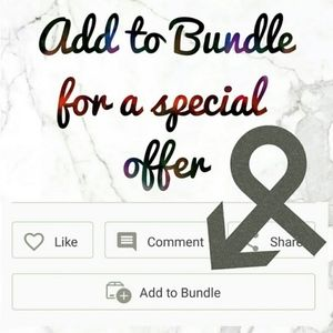 Add to Bundle for a Special Discount!!